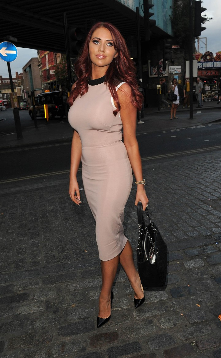 Amy Childs out walking around in London