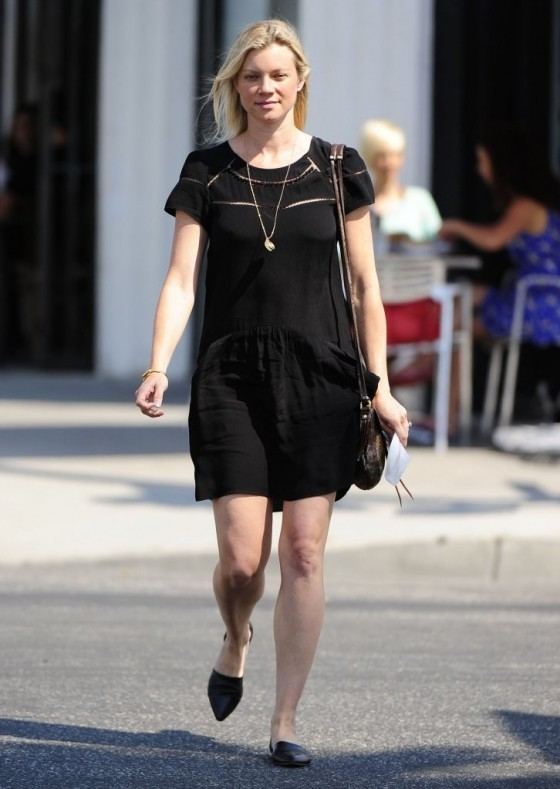 Amy Smart Leggy candids in Hollywood -02