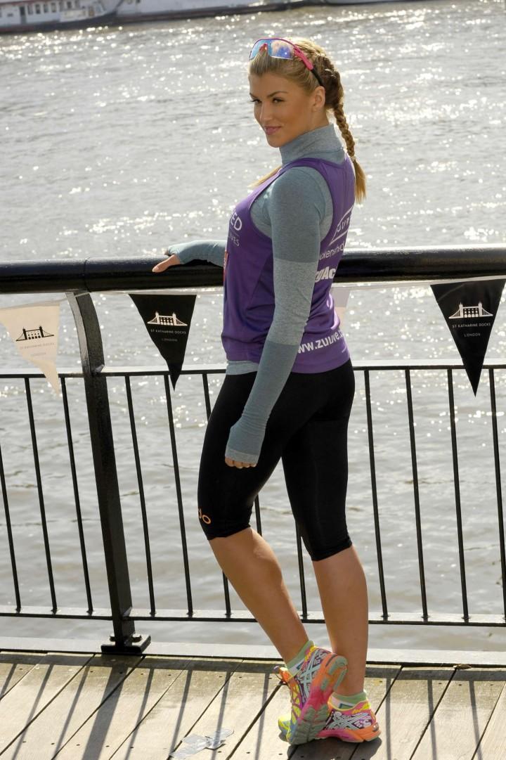 Amy Willerton at the Virgin London Marathon