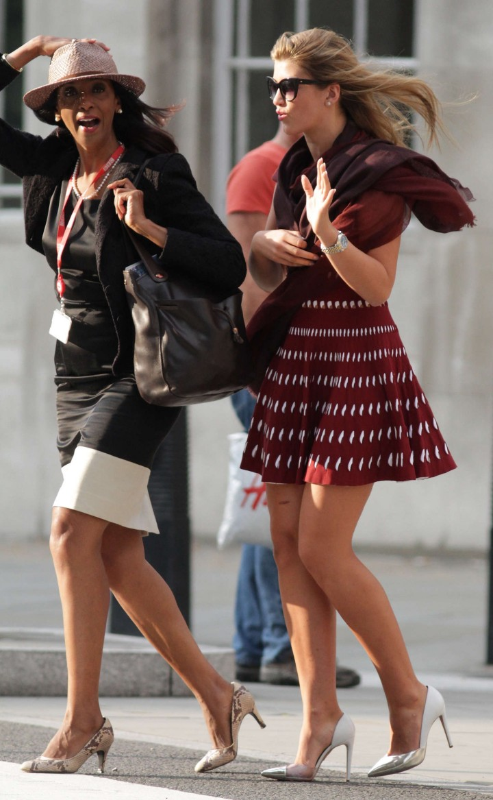 Amy Willerton in Red Mini Dress -07