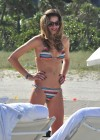 Ana Beatriz Barros wearing Bikini on Miami beach