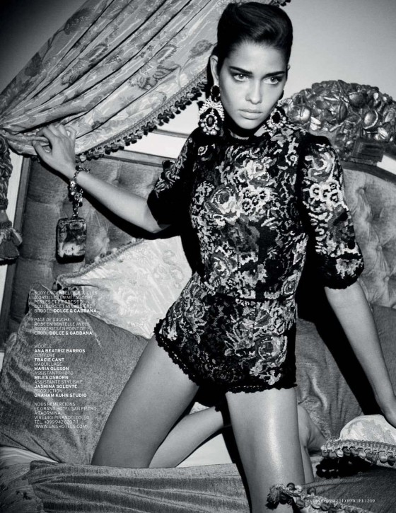 Ana Beatriz Barros in L'Officiel Magazine