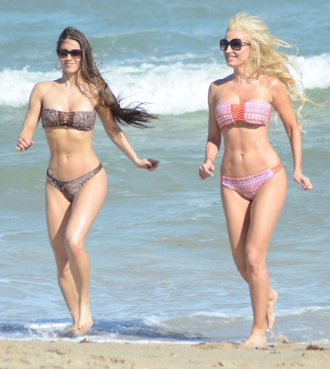Ana Braga & Anais Zanotti Hot Bikini Photos on the beach in Miami