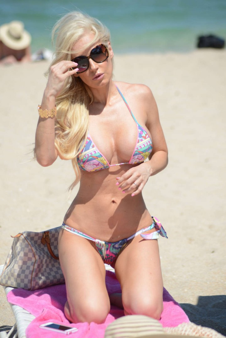 Ana Braga in Tiny Bikini on Miami Beach