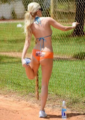 Ana Braga in Bikini Doing Yoga -01