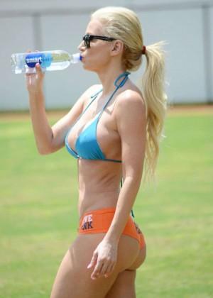 Ana Braga in Bikini Doing Yoga -05