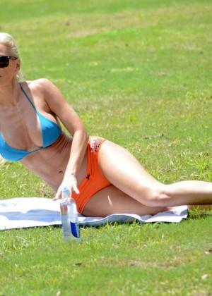 Ana Braga in Bikini Doing Yoga -15