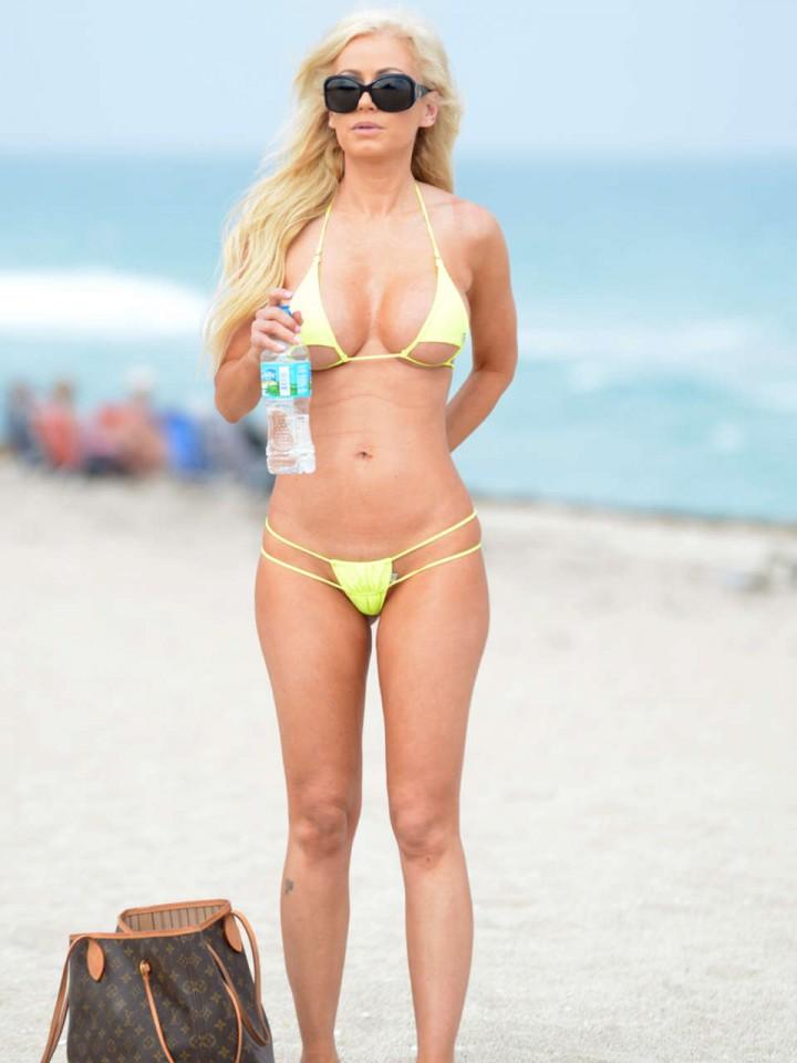 Ana Braga in a Yellow Bikini at Miami Beach -02