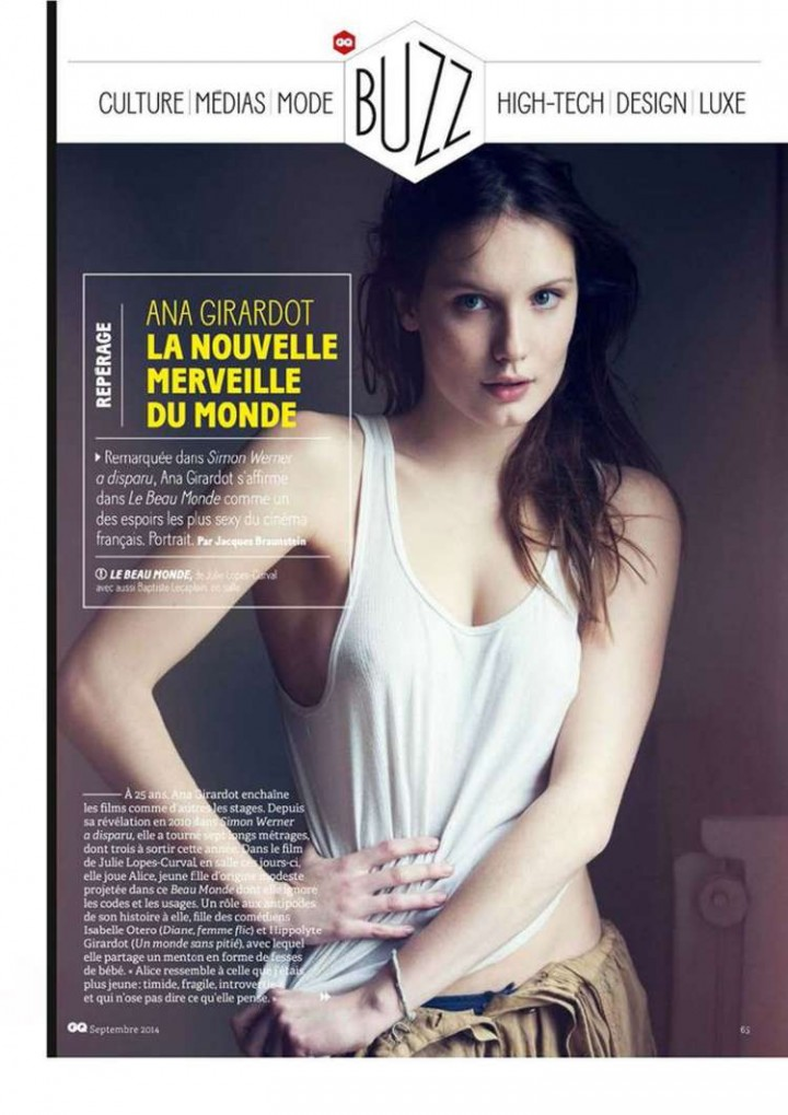 Ana Girardot - GQ France Magazine (September 2014)