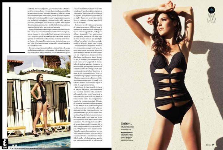 Ana Ivanovic: Esquire Latin America -04