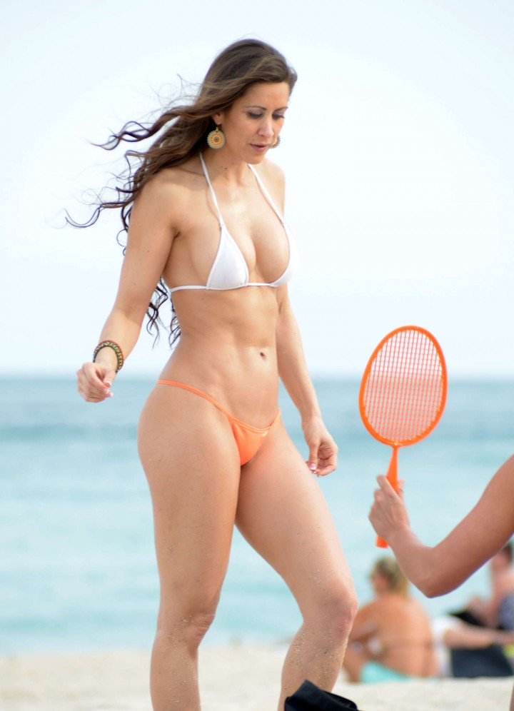 Anais Zanotti And Coralie Teraiefa Bikini Photos: 2014 in Miami -04