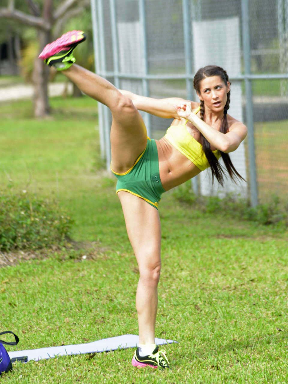 Danica Patrick 2018 >> Anais Zanotti Workout Photos: 2014 in park -06 - GotCeleb