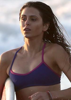 Anastasia Ashley Bikini Photos: 2014 Surfing on a Beach -08