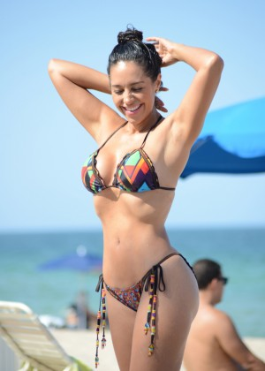 Andrea Calle Hot Bikini Photos: in Miami 2014 -12