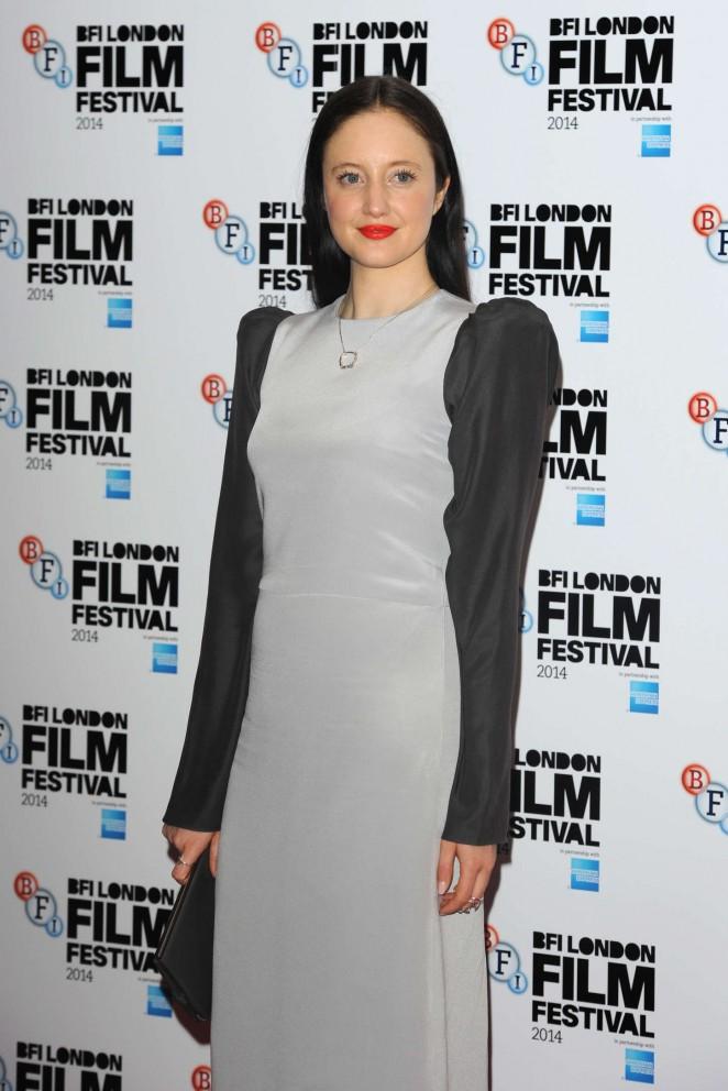 "Andrea Riseborough - ""Silent Storm"" Premiere at 58th BFI London Film Festival in London"