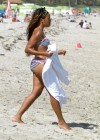 Angela Simmons Bikini on the Beach in Miami pic -05