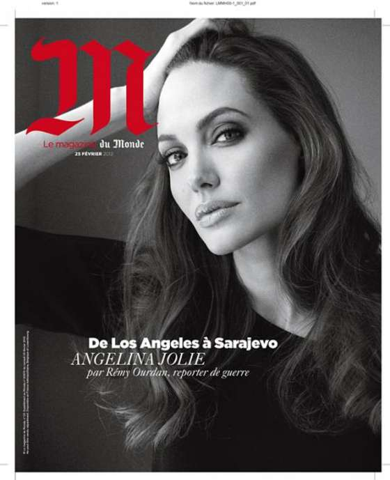 Angelina Jolie - 2012 Le Magazine du Monde (February Issue)