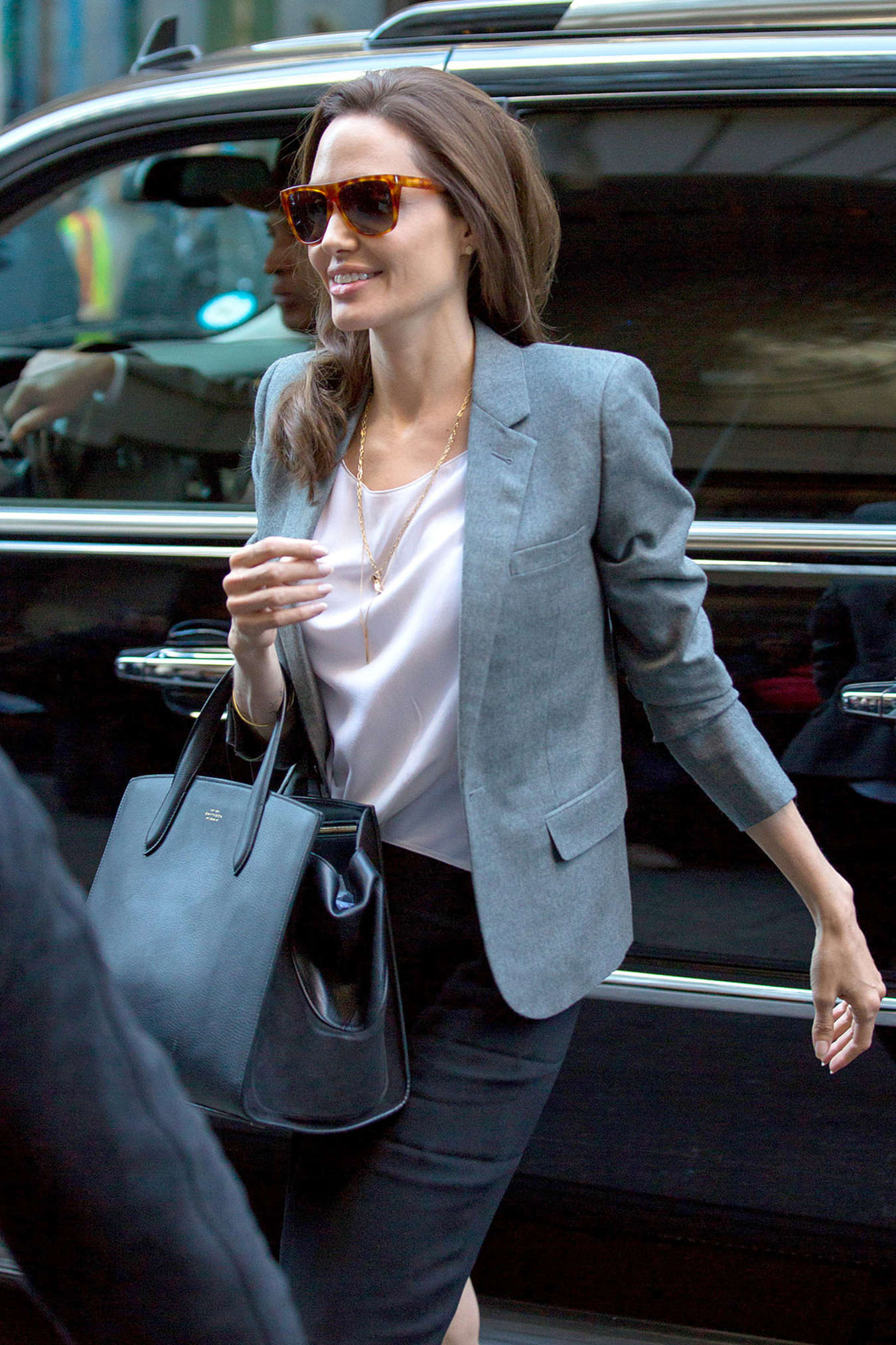 Angelina Jolie at Paley International Council Summit in New York