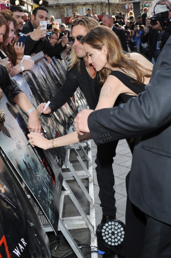 Angelina Jolie at World War Z premiere in London -25
