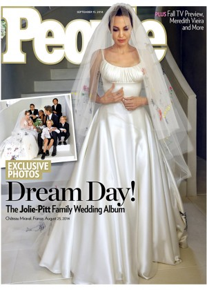 Angelina Jolie - Wedding Dress by Versace in People Magazine (September 2014)