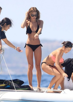 ann-kathrin-brommel-in-black-bikini-on-a-yacht-in-ibiza-03