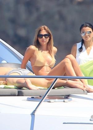 Ann-Kathrin Brommel Bikini: on a yacht-01