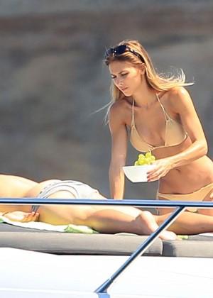 Ann-Kathrin Brommel Bikini: on a yacht-07