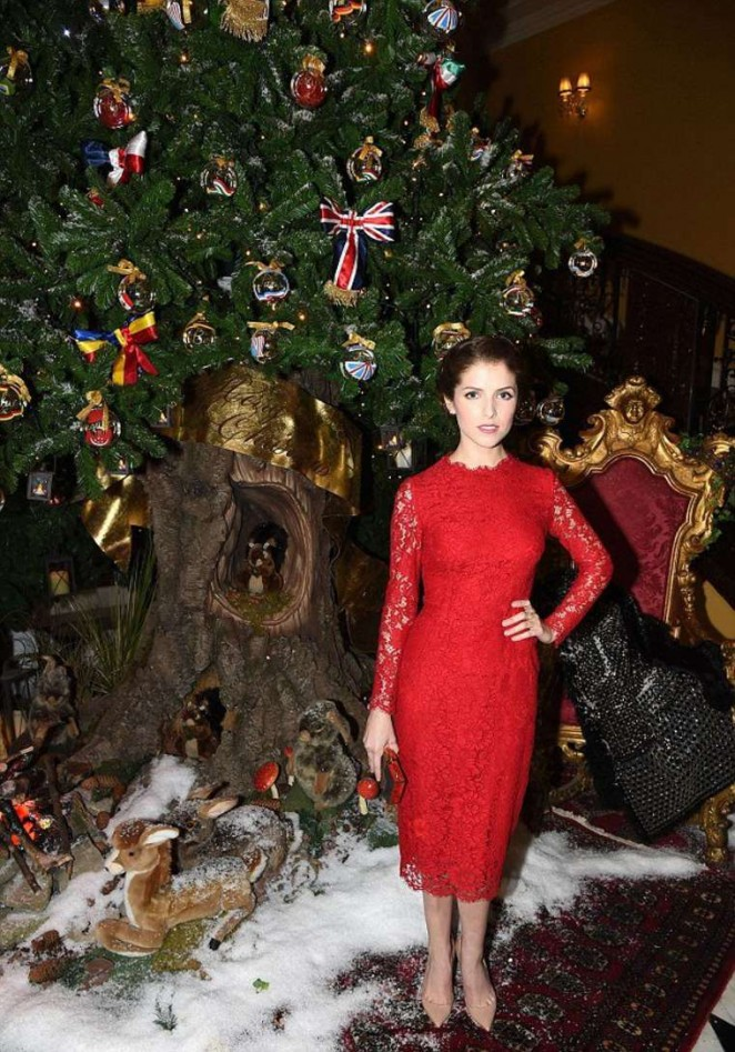 Anna Kendrick - Dolce & Gabbana Christmas Tree Party in London