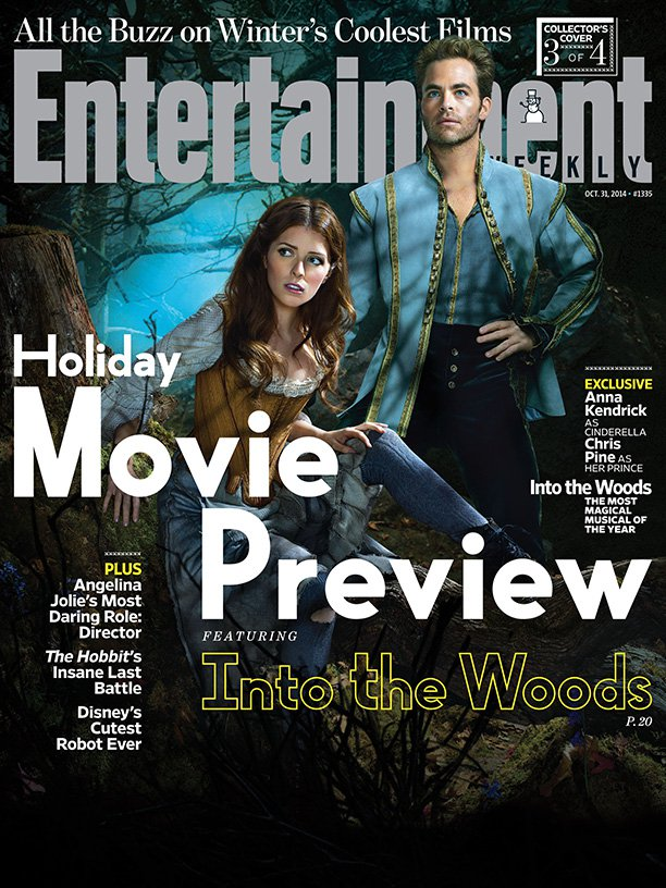 "Meryl Streep, Anna Kendrick & Emily Blunt in ""Into the Woods"" for Entertainment Weekly Covers 2014"