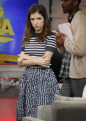 Anna Kendrick on 'Good Morning America' in NYC