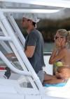 Anna Kournikova - wearing a bikini on a boat in Miami -02