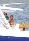 Anna Kournikova - wearing a bikini on a boat in Miami -06