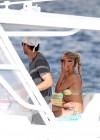 Anna Kournikova - wearing a bikini on a boat in Miami -07