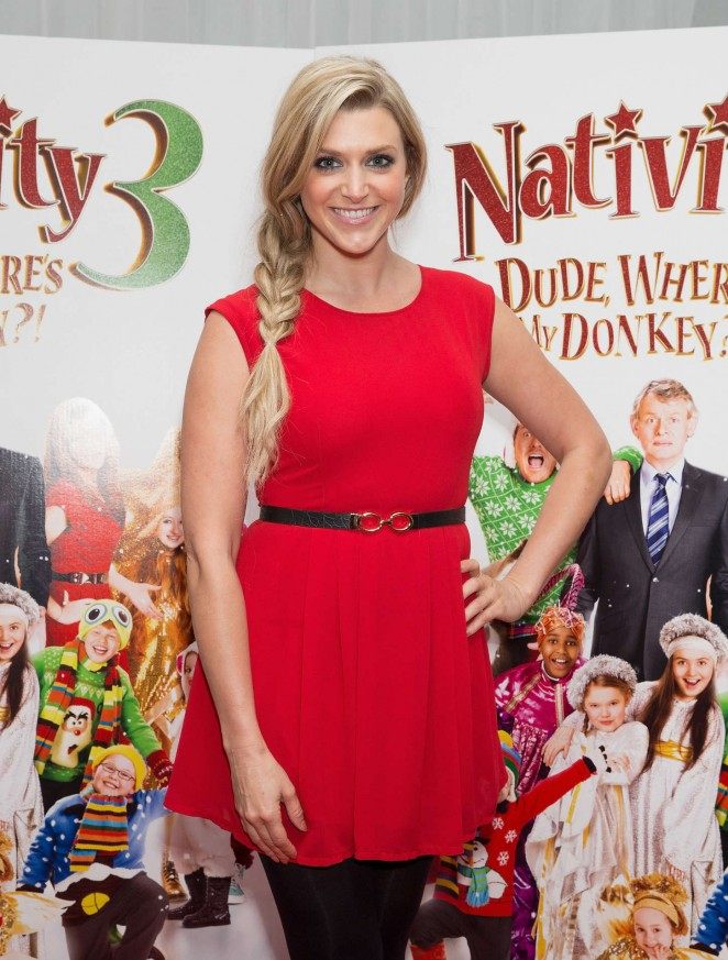 "Anna Williamson - ""Nativity 3: Dude, Where's My Donkey?"" Premiere in London"