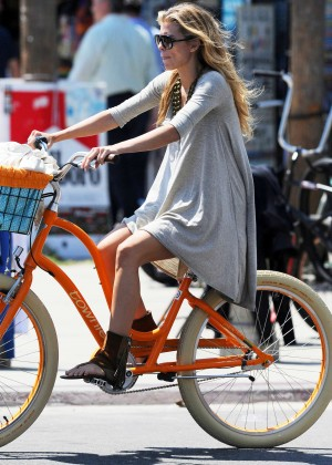 AnnaLynne McCord: Bike Riding -03
