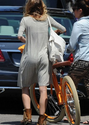 AnnaLynne McCord: Bike Riding -04