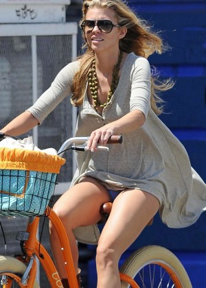 AnnaLynne McCord: Bike Riding -09