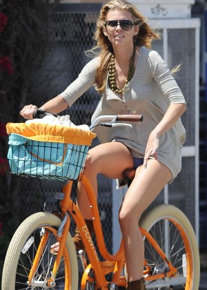 AnnaLynne McCord: Bike Riding -15