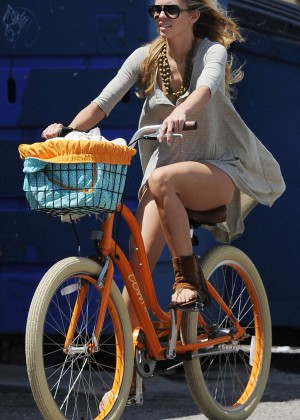 AnnaLynne McCord: Bike Riding -20