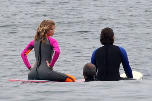 AnnaLynne McCord In a Wetsuit Filming for 90210