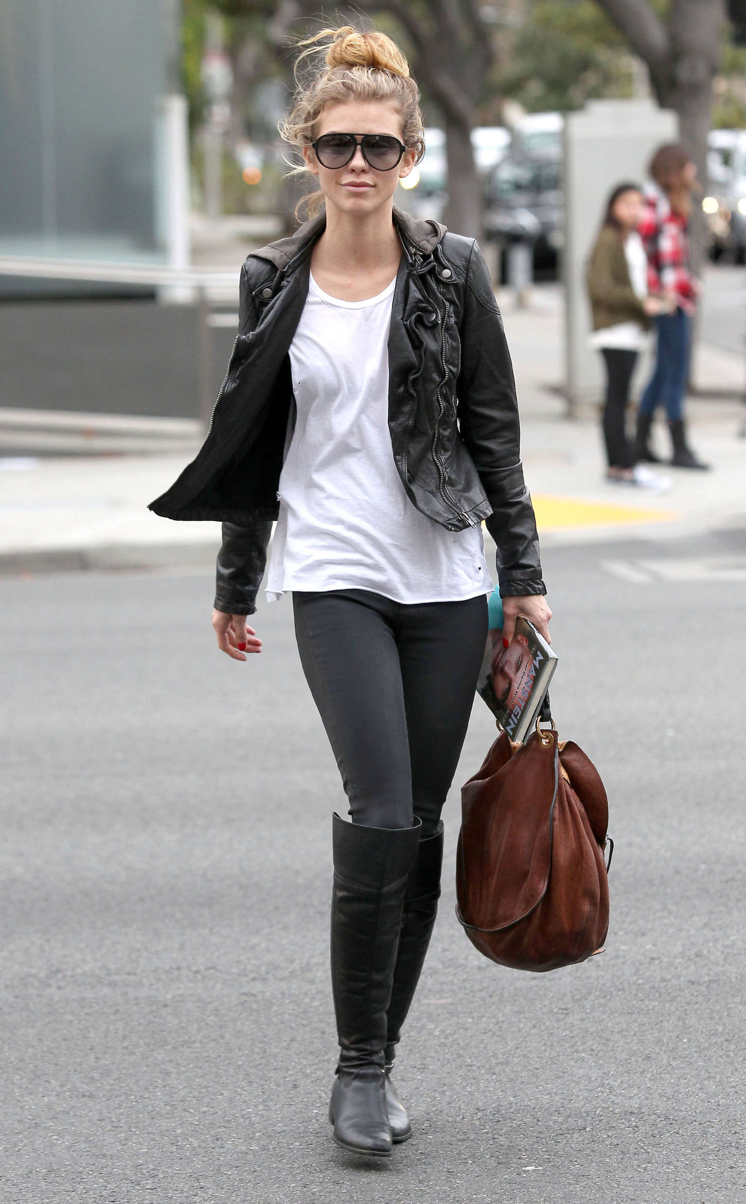 AnnaLynne McCord in Tights Out in Beverly Hills