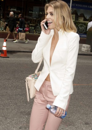 AnnaLynne McCord in tight pants out in Manhattan