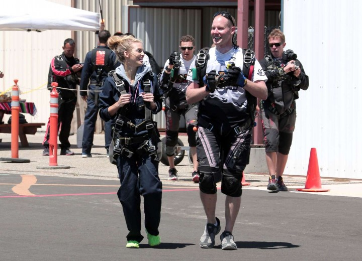 AnnaLynne McCord Skydives from 18 000 feet at Charity Event -23