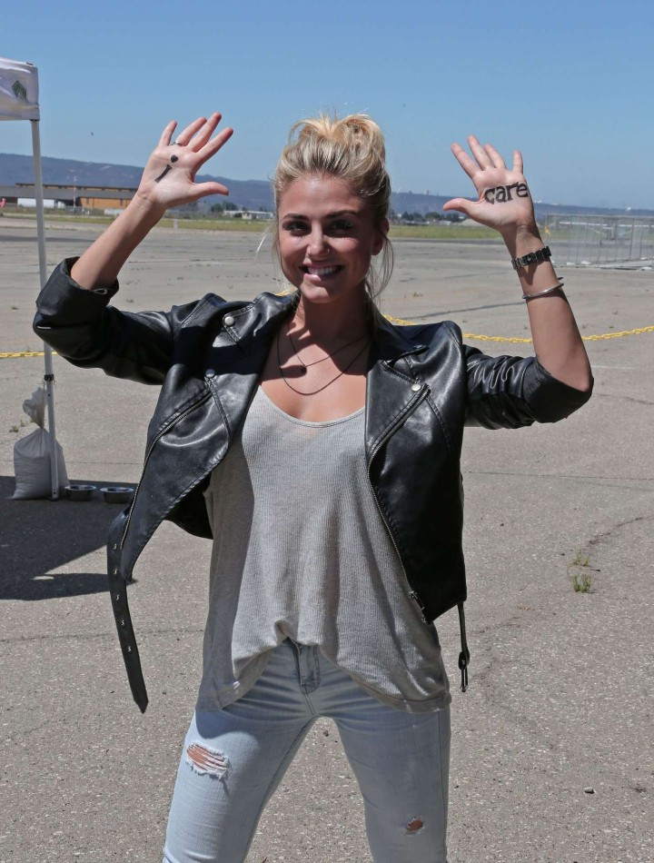 AnnaLynne McCord Skydives from 18 000 feet at Charity Event -36