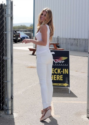 AnnaLynne McCord Skydives from 18 000 feet at Charity Event -37