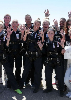 AnnaLynne McCord Skydives from 18 000 feet at Charity Event -48