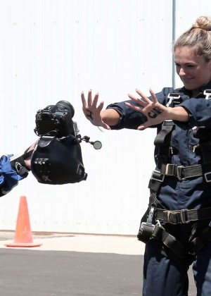 AnnaLynne McCord Skydives from 18 000 feet at Charity Event -51
