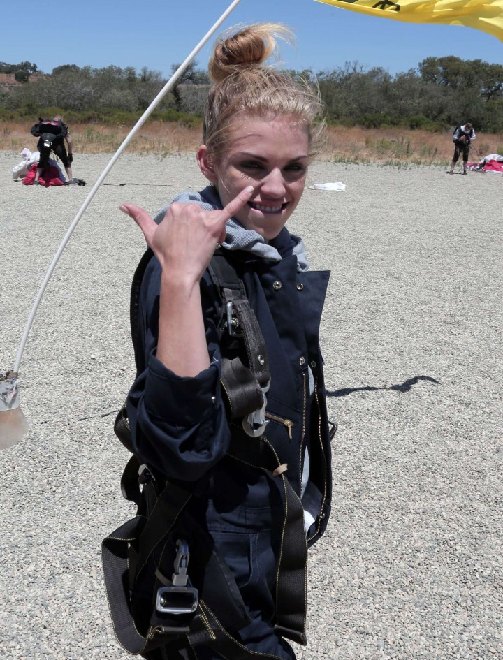 AnnaLynne McCord Skydives from 18 000 feet at Charity Event -54