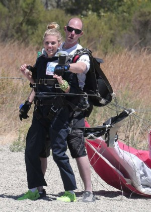 AnnaLynne McCord Skydives from 18 000 feet at Charity Event -55