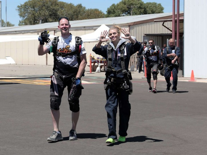 AnnaLynne McCord Skydives from 18 000 feet at Charity Event -61
